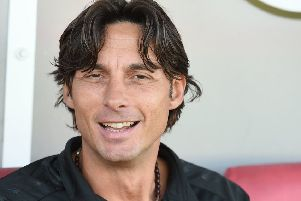 Football:''Crawley Town v Yeovil Town.''Pictured is Crawley Town's Manager, Gabriele Cioffi.''Crawley, Sussex. ''Picture: Liz Pearce 29/09/2018''LP181603 SUS-180930-165707008