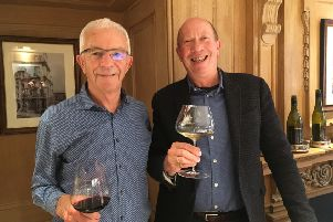 Sir George Fistonich with Richard at the London lunch