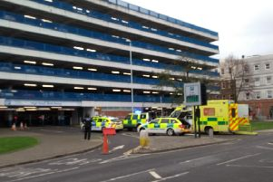 The scene of the incident in High Street, Worthing