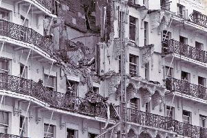 Damage to The Grand Hotel, Brighton, IRA bomb - archive photo