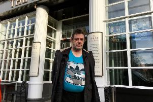 Kevin Long, 55, from Markwick Mews, Worthing, outside The Three Fishes pub in Chapel Road, Worthing