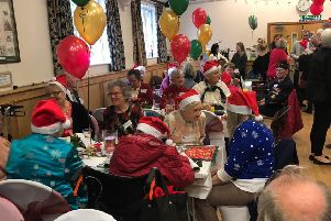 Sharing a Christmas lunch