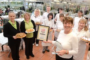 ks190034-1 Palm House  Cafe Winners  phot kate'The team from the Palm House Cafe who won Cafe of the Year from the Observer Series.ks190034-1 SUS-190122-190849008