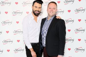 Stefan Field, Slimming World consultant and team developer, with television personality Rylan Clark-Neal