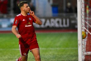 Ollie Pearce hit a hat-trick in Worthing's win over Harlow Town. Picture: Stephen Goodger