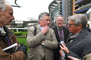 Paul Nicholls was in demand on a day when he had five winners / Picture by Malcolm Wells