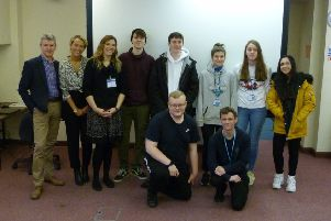 Collyer's students with Ken carter from Activate Events SUS-190225-113516001