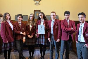 The team from Our Lady of Sion at the Mayor's Youth Debate