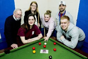 Glyn Mathias, Jessica Autumns , Judith Clacy (CALA), Emily Moore Bradley Keet and Ben Young - CALA Homes is sponsoring East Preston Youth Club for �1000 to help with it's ongoing work in the community