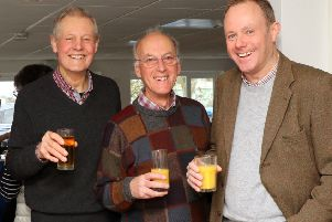 Tim Simpson, Amberley parish councillor, Grahame Joseph, chairman of the Amberley Society, and Nick Herbert SUS-190320-100212001