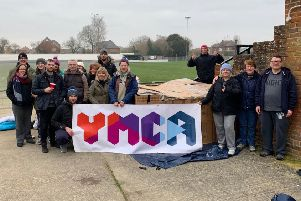 The fundraisers who took part in Horsham's YMCA Sleep Easy event SUS-190204-120247001