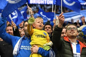 Albion fans pictured at Wembley. Picture by PW Sporting Photography