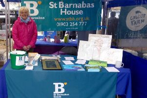 Adur Art Club has been a great supporter of St Barnabas House hospice over the years, including this stall at Shoreham Farmers' Market