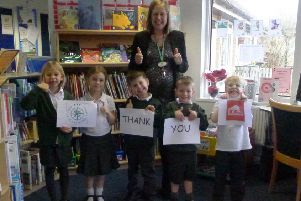 Trafalgar Community Infant School received �500 funding towards their playground