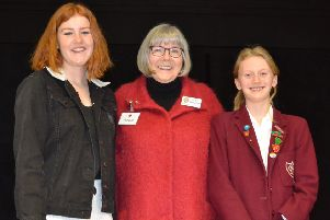 Izzie Gee and Flora Burleigh with Rotarian Nicky Babbage-Clark