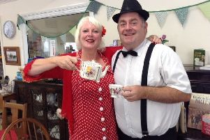Janice Moth with club supporter Mike Jeffries, owner of Home Instead Senior Care Worthing and Steyning