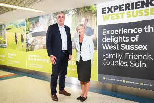 Stewart Wingate, Gatwick chief executive officer and Louise Goldsmith,  leader of West Sussex County Council.