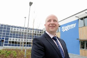 Tom Garfield, headteacher at The Academy, Selsey. Photo by Kate Shemilt