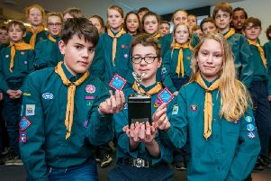 More than 50 boys and girls from the 1st Barnham Scout Group received their unique RollsRoyce patrol badges during a specially arranged visit to Rolls-Royce at Goodwood.