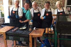 The barbecue team for the Southwick Beer and Music Festival