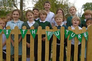 The pupils with the legacy fence