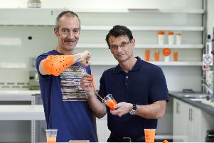 Richard Palmer from Storrington (left) and Philip Green are nominated for the European Inventor Award 2019 in the category SMEs. Copyright: EPO