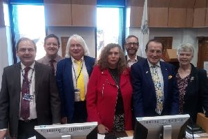 The new Liberal Democrats cabinet at Arun District Council