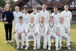 Stirlands CC line up before their win over Roffey seconds / Picture by Kate Shemilt