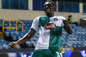 Freddie Ladapo of Plymouth Argyle (Photo by Harriet Lander/Getty Images)
