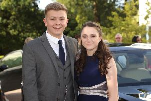 Students at The Gatwick School arriving at prom