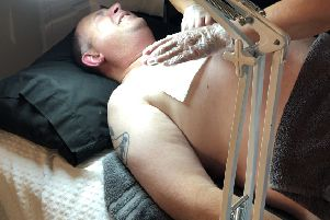 During the waxing session