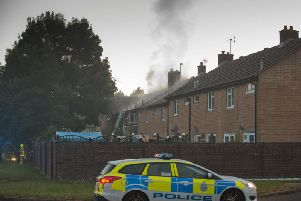 Two puppies have died in a serious fire in ablock of flats in Gasson Wood Road, Bewbush, Crawley