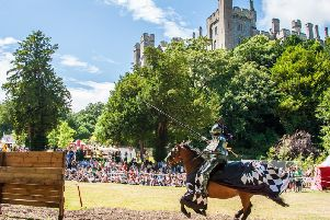 Jousting and the castle by Julia Claxton