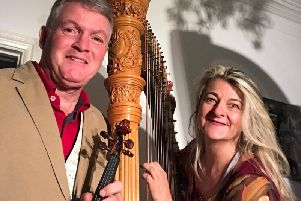 Peter Fisher (violin) and Gabriella DallOlio (harp)