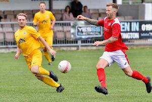 Matt Noble netted a penalty and added an assist in Arundel's FA Cup win. Picture by Stephen Goodger