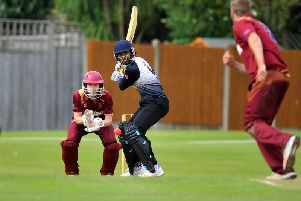 Roffey's Rohit Jagota faces Preston Nomads' Dominic Shepheard. All pictures by Steve Robards
