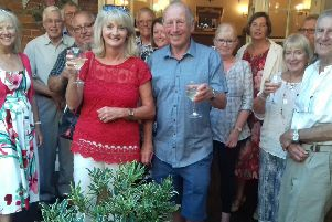 West Worthing Rotary Club members last summer, wishing Sue and Chris Worthington well for their move to the north