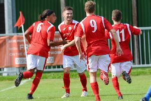 Tijan Sparks wheels away in celebration after netting the winner in the FA Cup