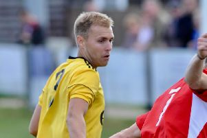 Mitchell hand struck from the spot in Littlehampton's draw at Sidlesham. Picture by Stephen Goodger