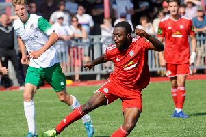 Marvin Armstrong struck Worthing's winner against Hastings United in the FA Cup. Picture by Stephen Goodger