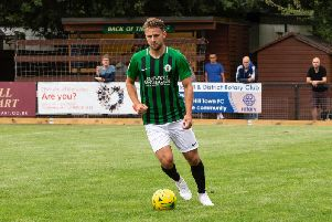 Tom Cadman scored for Burgess Hill. Picture by Chris Neal