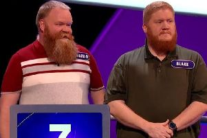 Richard and Blake Daniels-Britton on Pointless. Picture: BBC
