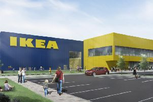 An artist's impression of how the new IKEA in Lancing could look SUS-181224-111924001