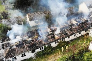 Drone footage showed the extent of the damage caused to the building