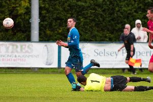 Ryan Morey on target for Selsey against Shoreham / Picture by Chris Hatton