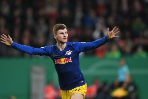 Timo Werner has netted 68 times in 124 appearances in the Bundesliga