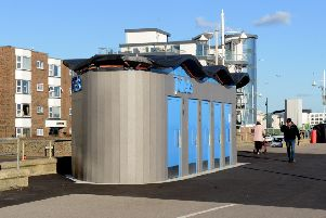 The new Bognor Regis seafront toilets before they were closed