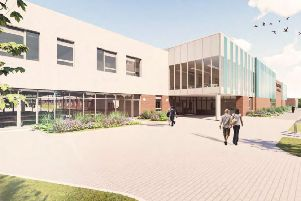 An artist's impression of the new Bohunt School planned at north Horsham - SUS-190830-115523001