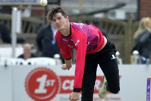 Horsham's George Garton in action for Sussex. Picture by Jon Rigby