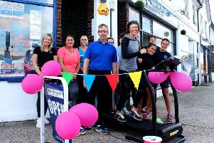 Staff from Ian Watkins Estate Agents and neighbour Micawber Lettings travelled a total of 26 miles on the treadmill